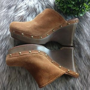 UGG Marsalis Suede Clogs Wedge Sz.11